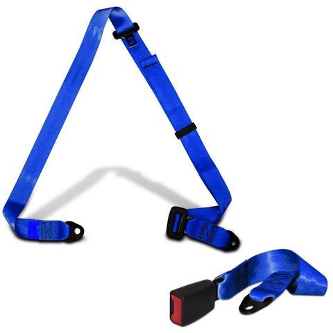 Imagem de Cinto de Segurança 3 Pontos Dianteiro Traseiro Universal Azul Estático