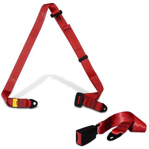 Imagem de Cinto de Segurança 3 Pontos Dianteiro Traseiro Universal Vermelho Estático