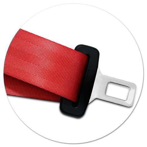 Imagem de Cinto de Segurança 3 Pontos Parte Macho Dianteiro Traseiro Estático Universal Vermelho