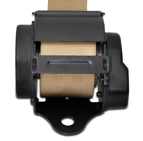 Imagem de Cinto de Segurança Automático 3 Pontos Retrátil Universal Bege Tuning
