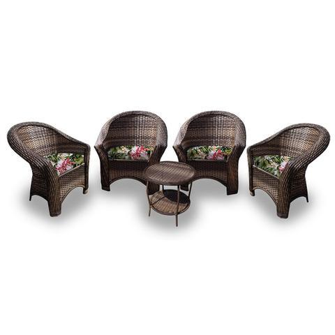 Imagem de Cjt de sofás em fibra sintética Bali - 4 Poltronas + 1 Mesa Centro. Moveis para varanda