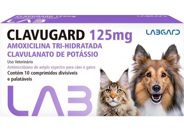 Imagem de Clavugard 125 mg Antimicrobiano cães e gatos 10 comprimidos