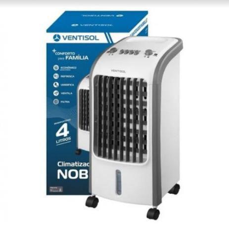 Imagem de Climatizador de Ar Ventisol Nobille CLM4, 4 Litros, Potência 80W, 3 Velocidades 220V Branco