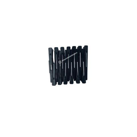 Imagem de Clips para cabelo Plástico - Preto - Santa Clara - Contem 12 Und