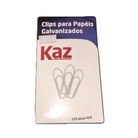 Imagem de Clips para Papéis Galvanizados No 8/0 170 Peças KAZ