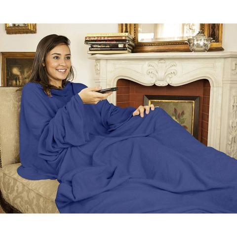 Imagem de Cobertor com Mangas Azul