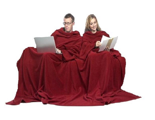 Imagem de Cobertor com Mangas Casal - Vermelho - 1,90m x 3,00 m - Dryas