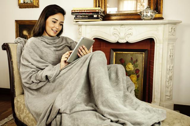 Imagem de Cobertor com Mangas Cinza