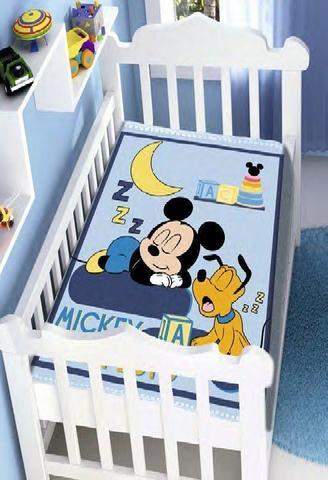 Imagem de Cobertor De Bebê Raschel Mickey  Jolitex