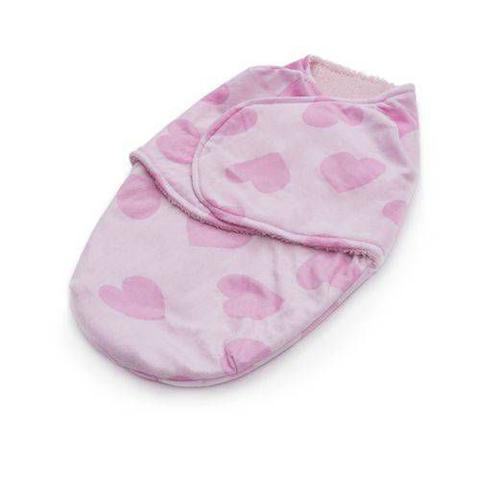 Imagem de Cobertor Enroladinho Coração Rosa Microfibra Loaní