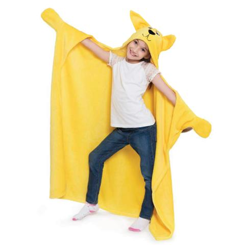 Imagem de Cobertor Mangas E Capuz infantil Cachorro Amarelo 102x127cm