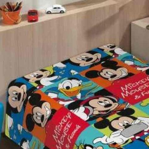 bd8b0e669f Cobertor Manta Solteiro Infantil Disney Friends Mickey - Jolitex ...