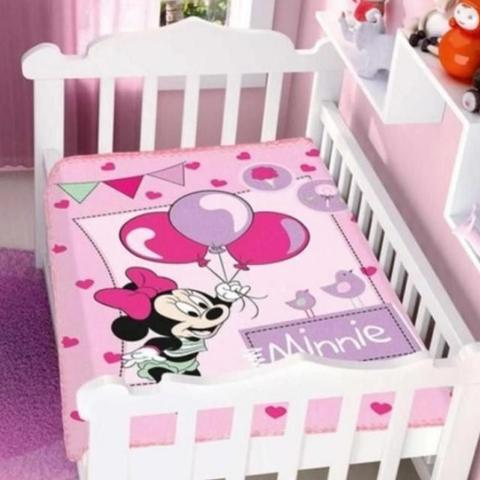 Imagem de Cobertor Menina Disney Minnie Festa Rosa - Jolitex