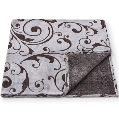 Imagem de Cobertor microfibra  aconchego alto relevo  cinza