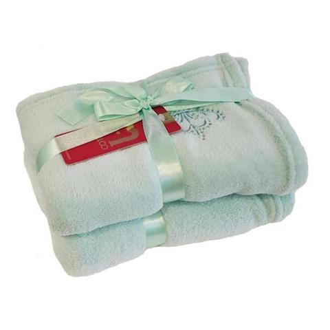 Imagem de Cobertor para Cachorro e Gato de Microfibra Malloo Verde Claro