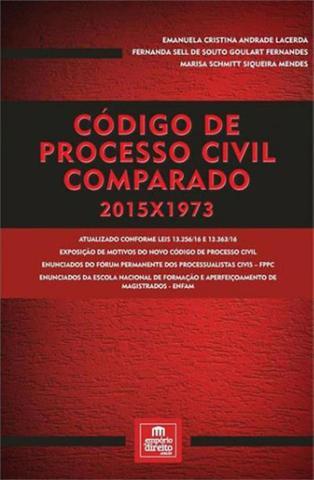 Imagem de Codigo de processo civil comparado 2015x1973