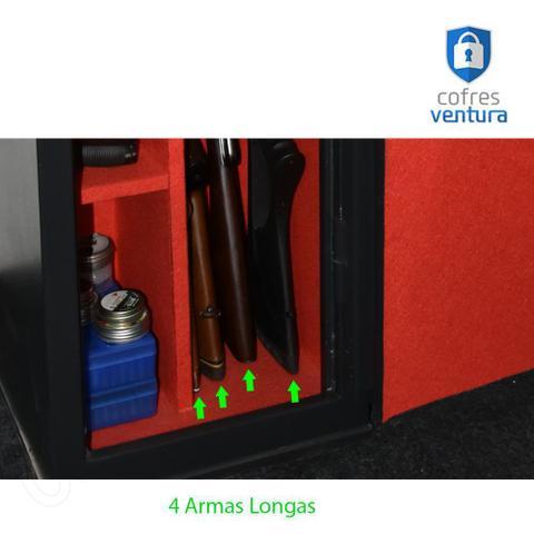 Imagem de cofre Armário em aço 130x38x35 ideal para 10 peças sendo 04 longas e 06 curtas