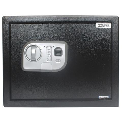 Imagem de Cofre Digital Eletrônico Leitor Biométrico Chave Senha 30fpn - Tssaper