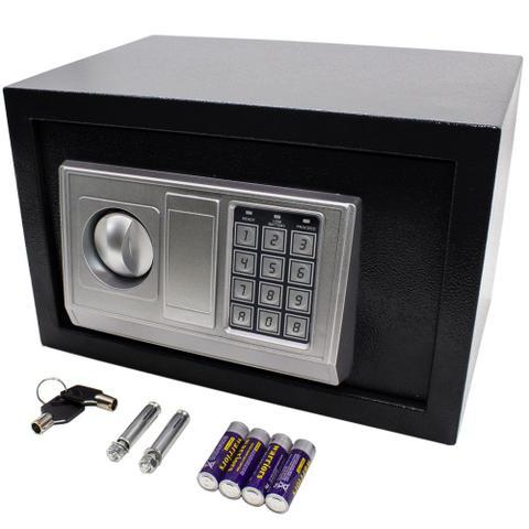 Imagem de Cofre digital eletrônico Preto 31x20x20cm senha e chave BM96-X - Lorben
