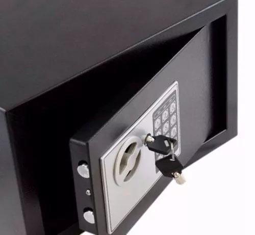 Imagem de Cofre Eletrônico Digital Aço Teclado Senha + Chaves Parede