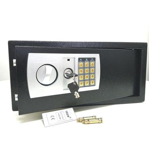 Imagem de Cofre Eletrônico Digital Preto Grande Notebook Teem 43EDAP com duas chaves