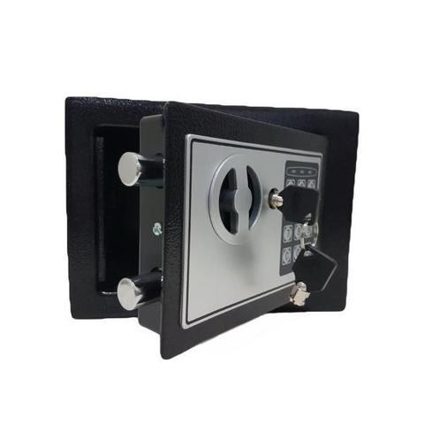 Imagem de Cofre Eletrônico Digital Senha Ou Chave 23x17x17cm Modelo 17EDA para Pousada, Hotel e Residencias