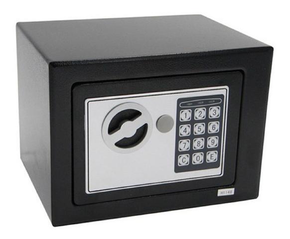 Imagem de Cofre Eletrônico Digital Teclado Com Senha + 2 Chaves