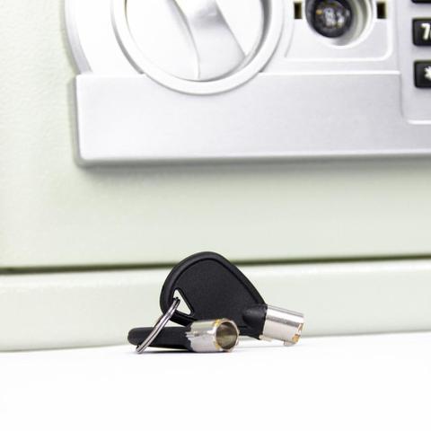 Imagem de Cofre Eletrônico Digital Teclado Senha 2 Chaves 20 EG Menno