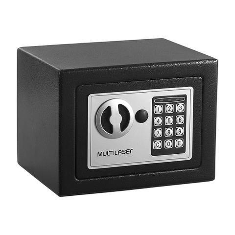 Imagem de Cofre Eletrônico Multilaser 17x23x17cm Preto - OF007