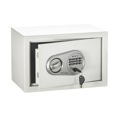 Imagem de Cofre Eletrônico Multilaser OF008 Aço 20x20cm Com Senha Branco