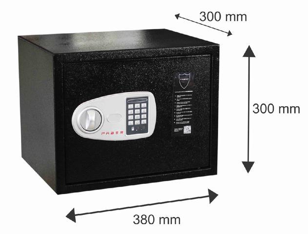 Imagem de Cofre Eletrônico PABER para Notebook com abertura com senha ou com chave