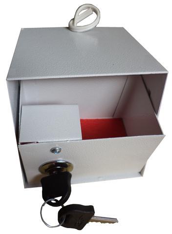 Imagem de Cofre tomada pequeno  com gaveta interna . tomada funcional