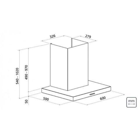 Imagem de Coifa de parede 60 cm aço inox (110V)