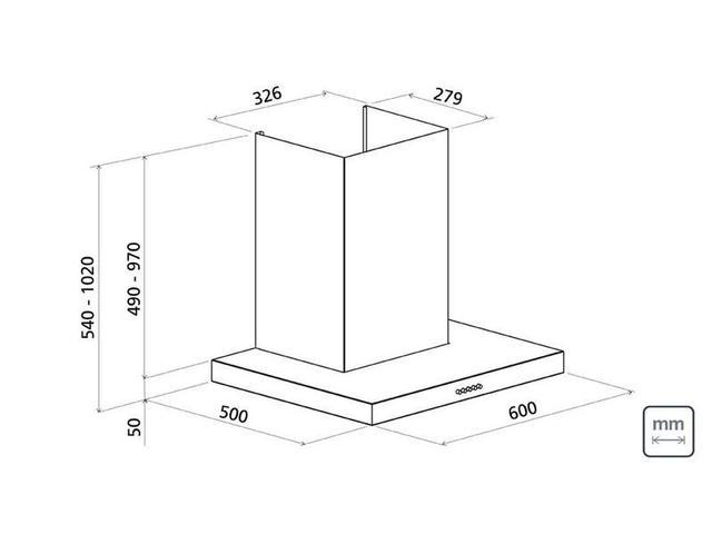 Imagem de Coifa de Parede 60 cm em Aço Inox 220V - Tramontina