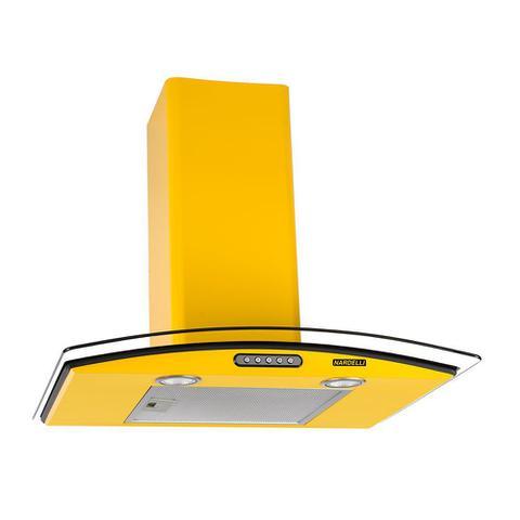 Imagem de Coifa de Parede 60cm Vidro Curvo Slim Nardelli Yellow