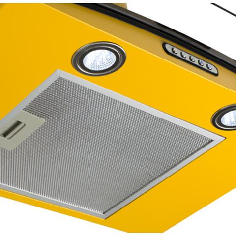 Imagem de Coifa de Parede Vidro Curvo Duto Slim 80 cm Amarelo 220v