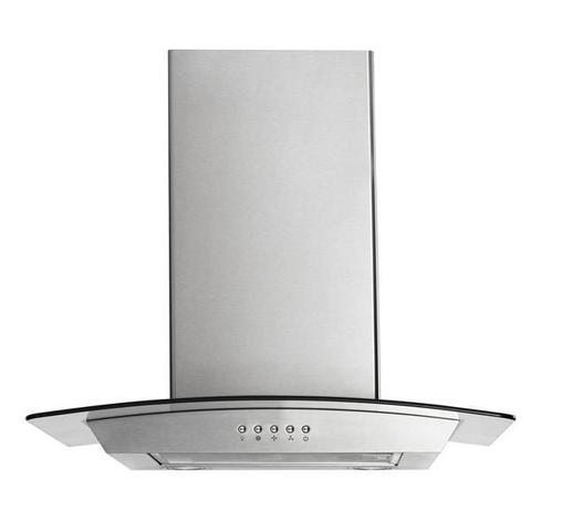 Imagem de Coifa de Vidro Multilaser 220V Inox 234W 60cm 2 Lâmpadas de LED 3 Níveis de Sucção e Indicado para Fogões de até 4 Bocas - CE068