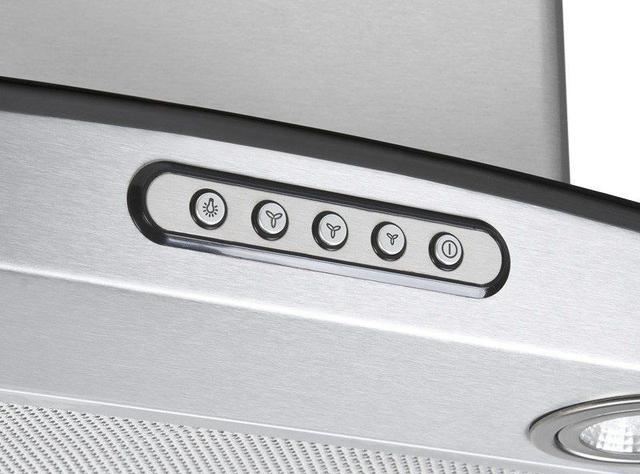 Imagem de Coifa Depurador de Parede Vidro Curvo Inox Cozinha Para Fogão de 4 à 6 Bocas 75cm - Fogatti