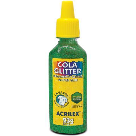 Imagem de Cola Com Glitter Tubo 23G. Verde Acrilex - Cx. c/12