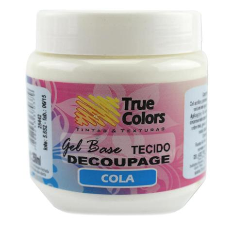 Imagem de Cola Gel Base Decoupage Tecido True Colors 250ml