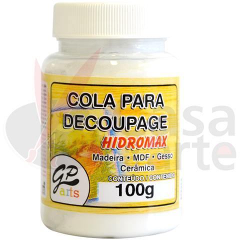 Imagem de Cola para Decoupage Hidromax Madeira Gato Preto 100 ml