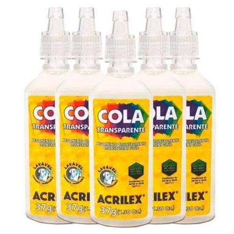 Imagem de Cola Transparente Acrilex 37g Com 6 Unidades