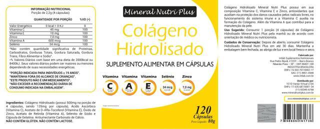 Imagem de Colágeno Hidrolisado Dr Lair Ribeiro + Vit C + Vit A + Vit. E + Selenio + Zinco Uso por 8 meses