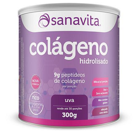 Imagem de Colágeno Hidrolisado - Sanavita - Uva - 300g