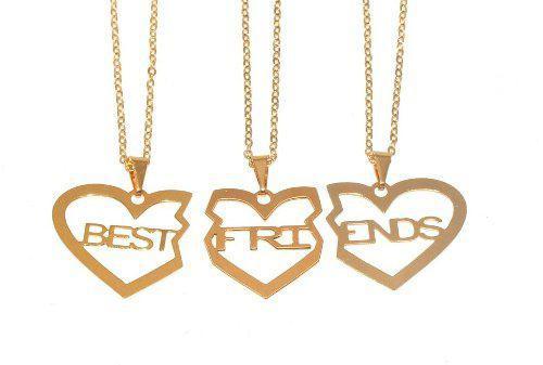 Imagem de Colar Best Friends Melhores Amigas Amizade Folheado 3 - B17