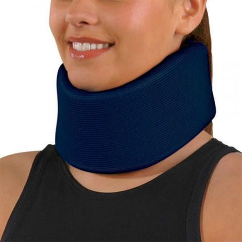 Imagem de Colar Cervical de Espuma com Reforço Interno Azul 051 Salvapé