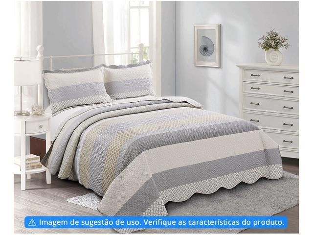 Imagem de Colcha Casal Camesa 100% Poliéster 150 Fios