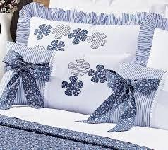 3d75f44658 Imagem de Colcha Casal Queen Doce Lar 100 Algodão Percal 150 Fios 07 peças  - azul