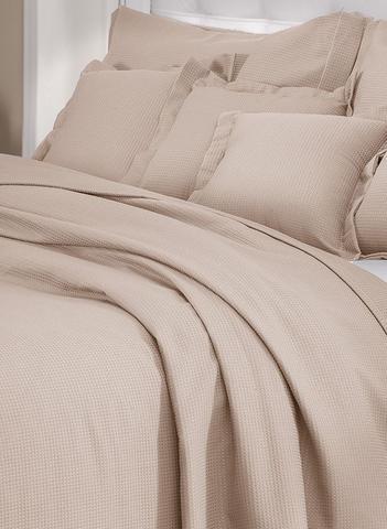 Imagem de Colcha Queen castor lisa com porta travesseiros