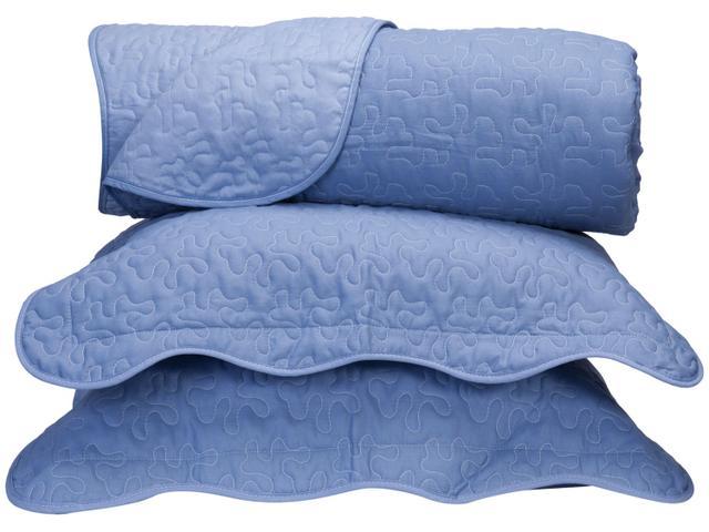 Imagem de Colcha Queen Size Santista Boutis Azul